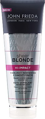 Regenerierender Conditioner für blondes Haar - John Frieda Sheer Blonde Hi-Impact Conditioner — Bild N1