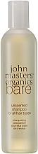 Düfte, Parfümerie und Kosmetik Unparfümiertes Shampoo für alle Haartypen - John Masters Organics Bare Unscented Shampoo
