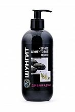 Düfte, Parfümerie und Kosmetik Schwarze Schungit-Seife mit Pumpenspender - Fratti HB Shungite