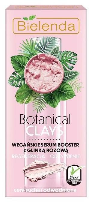 Regenerierender Serum-Booster mit rosa Ton für trockene und dehydrierte Gesichtshaut - Bielenda Botanical Clays Vegan Serum Booster Pink Clay — Bild N1