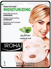 Düfte, Parfümerie und Kosmetik Feuchtigkeitsspendende Tuchmaske für das Gesicht mit Aloe Vera und Hyaluronsäure - Iroha Nature Moisturizing Aloe Tissue Face Mask