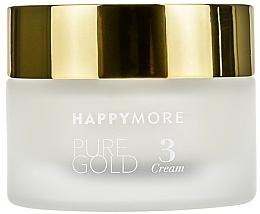 Düfte, Parfümerie und Kosmetik Regenerierende Anti-Aging Gesichts- und Augencreme mit reinem 24 Karat Gold, ätherischen Ölen und botanischen Pflanzenextrakten - Happymore Pure Gold Cream 3