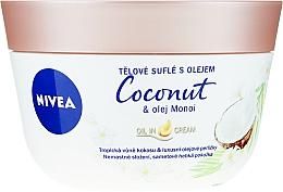 Düfte, Parfümerie und Kosmetik Körpersouffle mit Kokosnuss und Monoi-Öl - Nivea Body Souffle Coconut & Monoi Oil