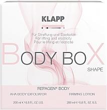 Düfte, Parfümerie und Kosmetik Körperpflegeset - Klapp Repagen Body Box Shape (Körperpeeling 200ml + Körperlotion 200ml)