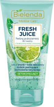 Detox grobkörniges Gesichtspeeling mit bioaktivem Zitronenwasser - Bielenda Fresh Juice Peel