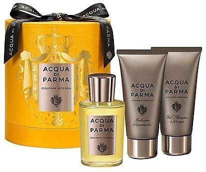 Acqua di Parma Colonia Intensa - Duftset (Eau de Cologne/100ml + Duschgel & Shampoo/75ml + After Shave Balsam/75ml)  — Bild N1