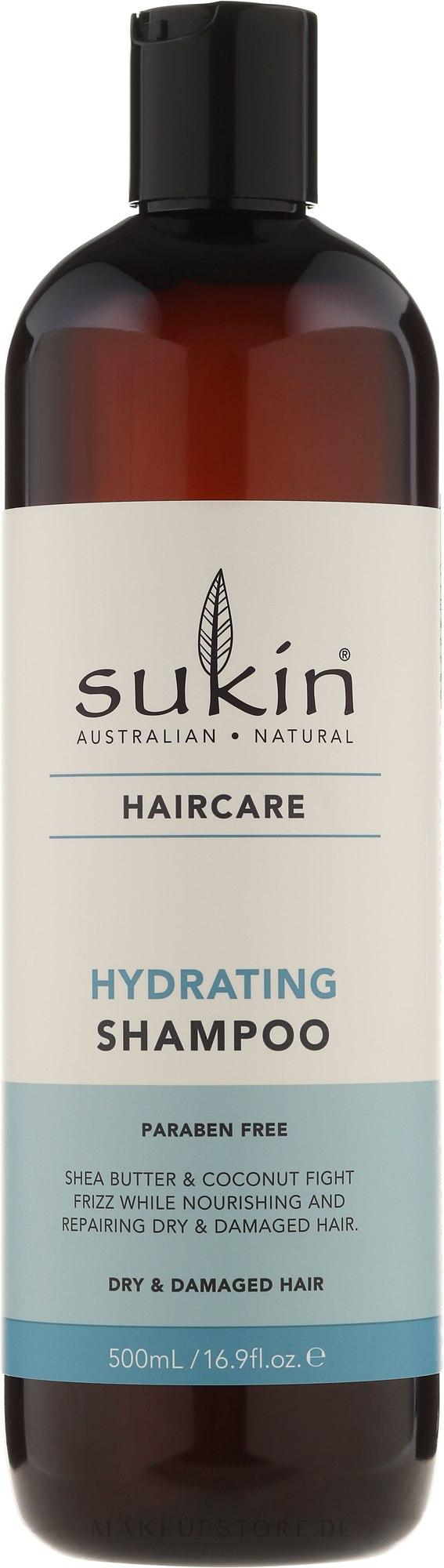 Feuchtigkeitsspendendes Shampoo für trockenes und strapaziertes Haar - Sukin Hydrating Shampoo — Bild 500 ml