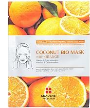 Straffende und aufhellende Tuchmaske mit Orangenextrakt - Leader Coconut Bio Mask With Orange — Bild N1