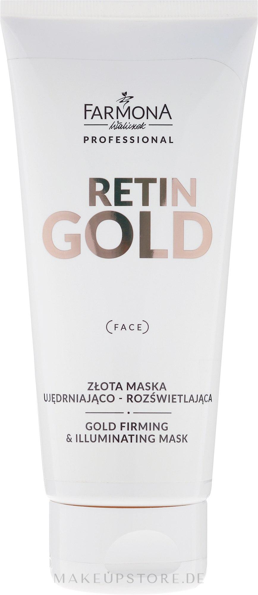 Algen-Gesichtsmaske mit kolloidalem Gold - Farmona Professional Retin Gold Mask — Bild 200 ml