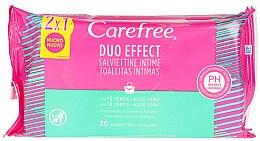Düfte, Parfümerie und Kosmetik Intimpflegetücher mit Aloe Vera 40 St. - Carefree Intimate Aloe Vera Wet Wipes