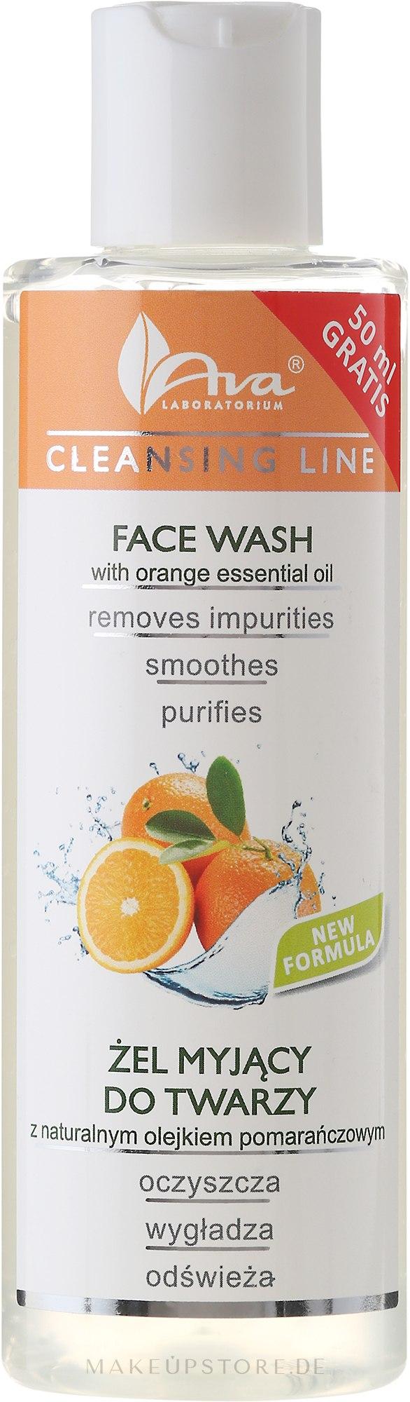 Gesichtsreinigungsgel mit ätherischem Orangenöl - Ava Laboratorium Cleansing Line Face Wash With Orange Essential Oil — Bild 200 ml