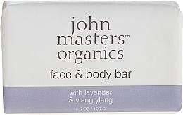 Düfte, Parfümerie und Kosmetik Gesichts- und Körperseife mit Lavendel und Ylang-Ylang - John Masters Organics Lavender Rose Geranium & Ylang Ylang Face & Body Bar