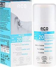 Düfte, Parfümerie und Kosmetik Sonnenlotion ohne Parfum für sehr sensible Haut LSF 20 - Eco Cosmetics Sun Lotion SPF 20