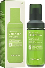 Hochkonzentrierte feuchtigkeitsspendende und beruhigende Gesichtsessenz mit Grüntee-Extrakt, Zitronensamen und Rosenholzöl - Tony Moly The Chok Chok Green Tea Watery Essence — Bild N2