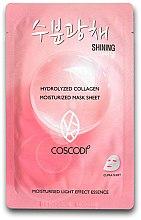 Düfte, Parfümerie und Kosmetik Feuchtigkeitsspendende Tuchmaske - Coscodi Hydrolyzed Collagen Moisturized Mask Sheet