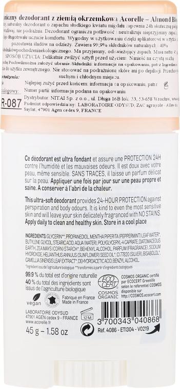 Deostick mit Mandelblüte - Acorelle Deodorant Stick Gel Almond Blossom — Bild N2