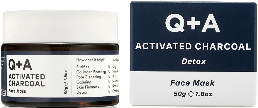 Detox-Gesichtsmaske mit Aktivkohle - Q+A Activated Charcoal Face Mask — Bild N1