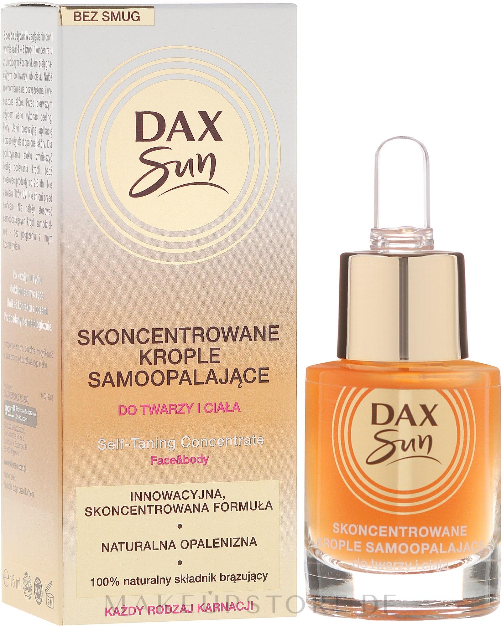 Selbstbräuner-Konzentrat für Gesicht und Körper - Dax Sun Self-tanning Concentrated Drops — Bild 15 ml