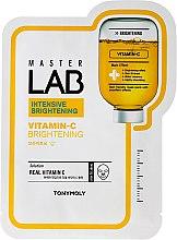 Düfte, Parfümerie und Kosmetik Intensiv aufhellende Tuchmaske für das Gesicht mit Vitamin C - Tony Moly Master Lab Vitamin C Mask