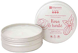 Düfte, Parfümerie und Kosmetik Schützende Handcreme mit Rose und Sheabutter - La Saponaria Hand Cream Rose and Shea Butter