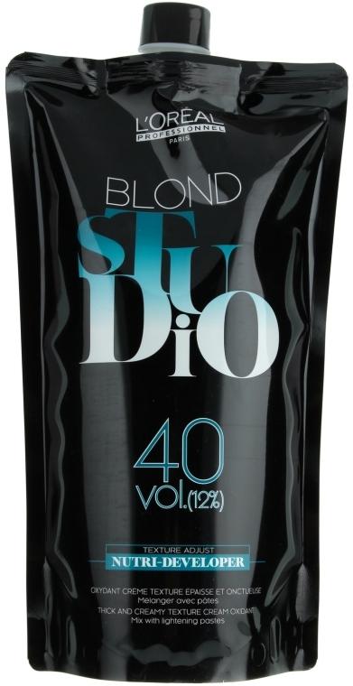 Spezial Entwickler für blondierte Haare 12% - L'Oreal Professionnel Blond Studio Creamy Nutri-Developer Vol.40 — Bild N1
