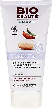 Reichhaltige und feuchtigkeitsspendende Körpermilch für empfindliche Haut mit natürlicher Cold Cream - Nuxe Bio Beaute High Nutrition Lotion — Bild N1