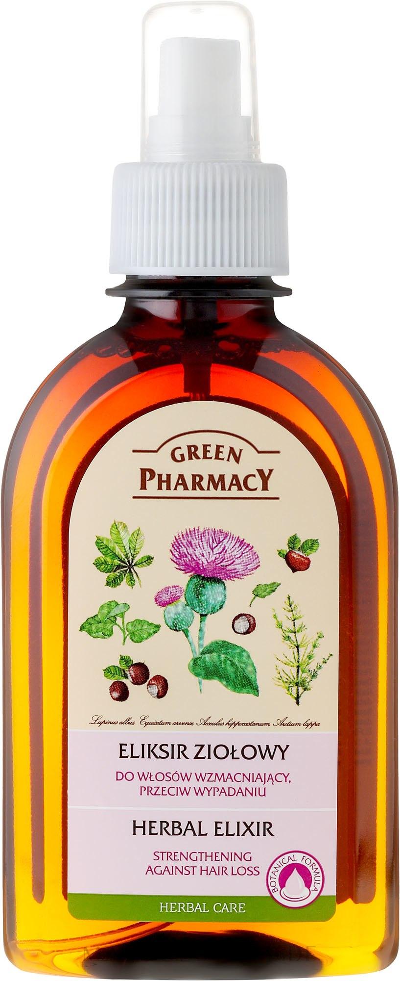 Kräuterelixier zur Stärkung der Haare gegen Haarausfall - Green Pharmacy — Bild 250 ml