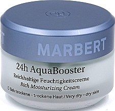 Düfte, Parfümerie und Kosmetik Reichhaltige feuchtigkeitsspendende Gesichtscreme für trockene Haut - Marbert 24h Aqua Booster Moisturizing Cream For Dry Skin