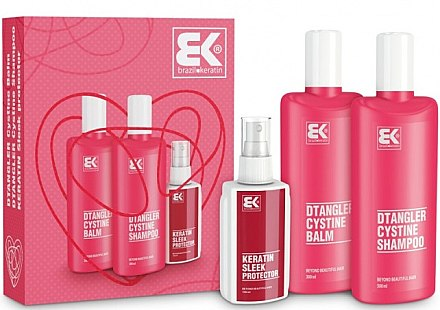 Haarpflegeset - Brazil Keratin Dtangler Cystine (Shampoo 300ml + Conditioner 300ml + Haarspray 100ml) — Bild N1