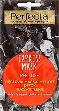Düfte, Parfümerie und Kosmetik Peelingmaske für das Gesicht mit Aktivkohle und Bentonit Tonerde - Perfecta Express Mask Peel-Off Detox