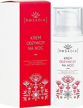 Pflegende Nachtcreme mit Damaszener Rosenwasser und Hyaluronsäure - Rosadia — Bild N1
