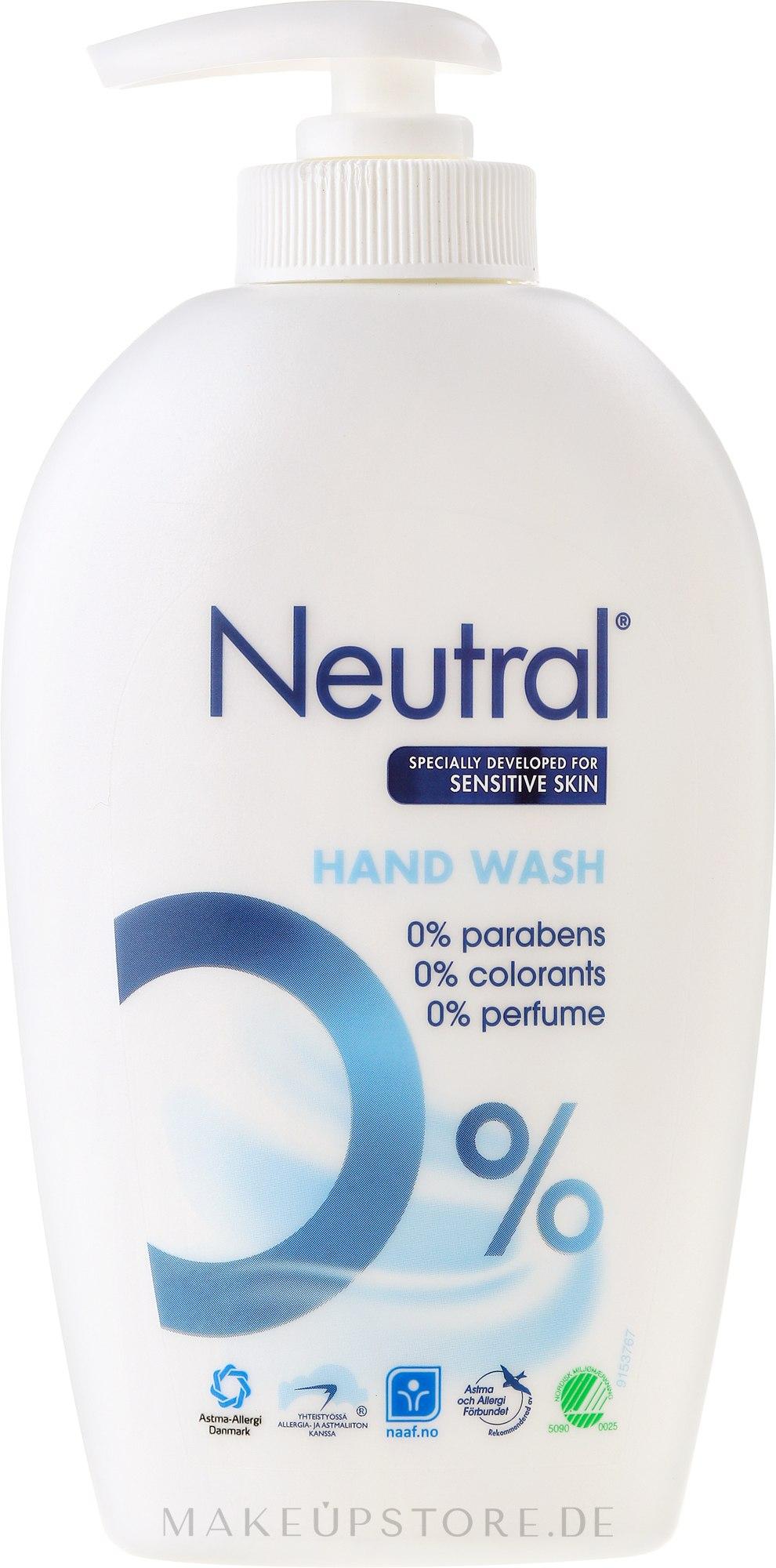 Flüssigseife für empfindliche Haut - Neutral 0% Hand Wash — Bild 250 ml