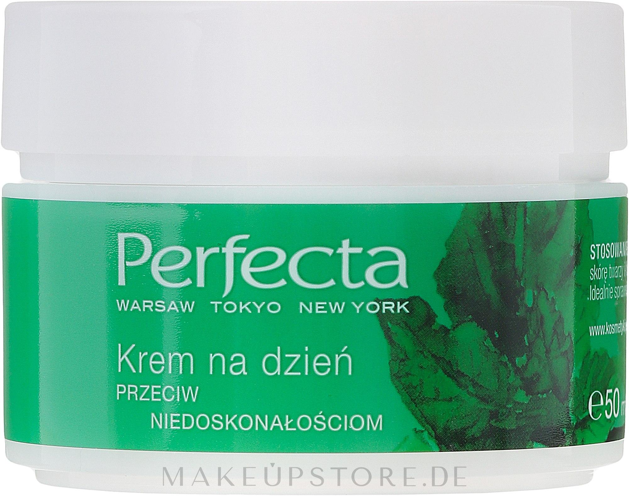 Feuchtigkeitsspendende und mattierende Tagescreme gegen Unvollkommenheiten - Perfecta Your Time is Green — Bild 50 ml