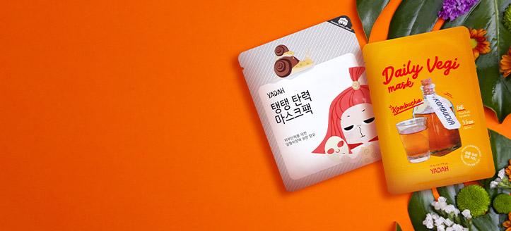 Beim Kauf von Yadah Produkten ab 12 € erhalten Sie eine Tuchmaske nach Wahl