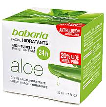 Düfte, Parfümerie und Kosmetik Feuchtigkeitsspendende Gesichtscreme mit Aloe Vera - Babaria Aloe Vera 24-Hour Moisturising Face Cream