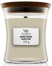 Düfte, Parfümerie und Kosmetik Duftkerze im Glas Smoked Jasmine - WoodWick Hourglass Candle Smoked Jasmine