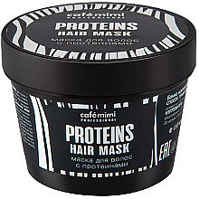 Düfte, Parfümerie und Kosmetik Feuchtigkeitsspendende Haarmaske mit Proteinen - Cafe Mimi Professional Proteins Hair Mask
