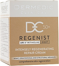 Düfte, Parfümerie und Kosmetik Regenerierende Nachtcreme 50+ - Dermedic Regenist ARS 5 Retinolike Night Intensely Regenerating Repair Cream
