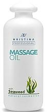 Düfte, Parfümerie und Kosmetik Aufweichendes glättendes und feuchtigkeitsspendendes Anti-Aging Massageöl für den Körper mit Algenextrakt - Hristina Professional Seaweed Massage Oil