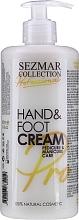Düfte, Parfümerie und Kosmetik Nährende Hand- und Fußcreme - Sezmar Collection Professional Hand & Foot Cream
