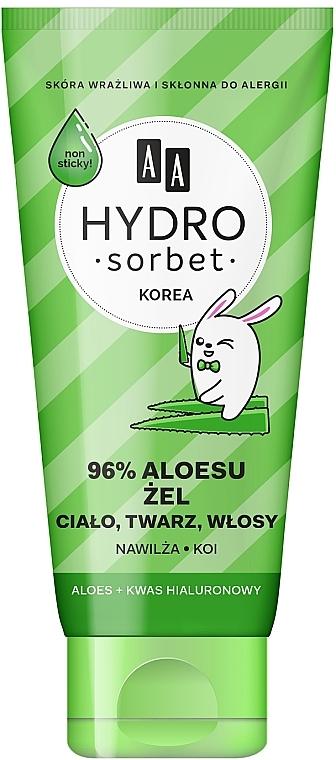 Gesichts-, Körper- und Haargel mit 96% Aloe Vera - AA Hydro Sorbet Gel (in Tube)