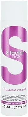 Volumen-Shampoo für feines Haar - Tigi S Factor Stunning Volume Shampoo — Bild N1