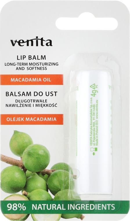 Lippenbalsam mit Macadamiaöl - Venita Lip Balm Macadamia Oil