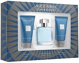 Düfte, Parfümerie und Kosmetik Duftset - Azzaro Chrome (Eau de Toilette 30ml + Shampoo 50ml + After Shave Balsam 50ml)