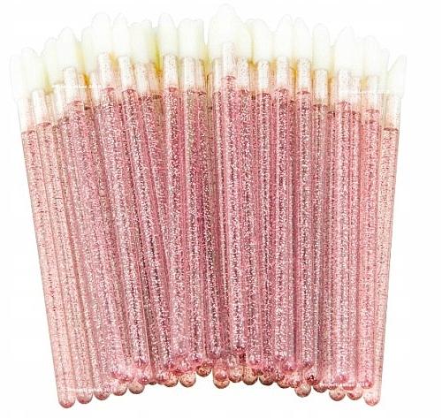 Velour-Applikatoren für Wimpern, Augenbrauen und Lippen rosa mit glanz - Lewer — Bild N1