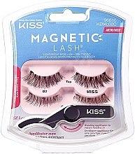 Düfte, Parfümerie und Kosmetik Leichtes Basis-Wimpernband vorgebogen mit drehbarem Applikator - Kiss Magnetic Lash Type 2