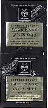 Düfte, Parfümerie und Kosmetik Intensiv reinigende Peelingmaske für das Gesicht mit grüner Tonerde - Apivita Intensive Exfoliating Mask
