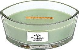 Düfte, Parfümerie und Kosmetik Duftkerze im Glas White Willow Moss - WoodWick Hearthwick Flame Ellipse Candle White Willow Moss