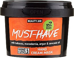 Düfte, Parfümerie und Kosmetik Handcreme-Maske mit Babassu-, Macadamia-, Argan- und Avocadoöl - Beauty Jar Must-Have Hand Cream-Mask