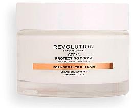 Düfte, Parfümerie und Kosmetik Intensiv schützende und feuchtigkeitsspendende Gesichtscreme für normale bis trockene Haut SPF 15 - Revolution Skincare Moisturizing Cream SPF15